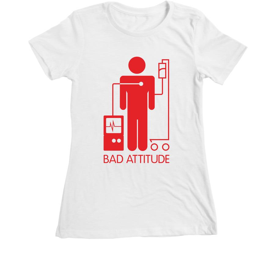Bad Attitude white